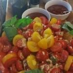 Baby Cherry Tomato, Mozzarella and Basil Salad