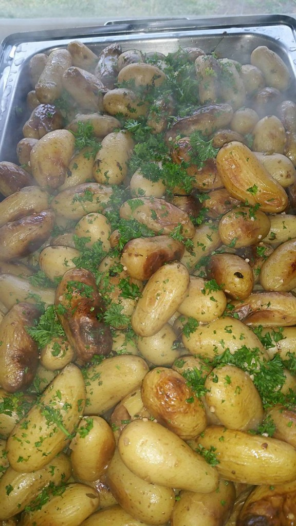 Roasted Baby New Potatoes with Fresh Rosemary and Garlic Butter