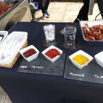 Selection of Our Homemade Sauces And Crispy Crackling