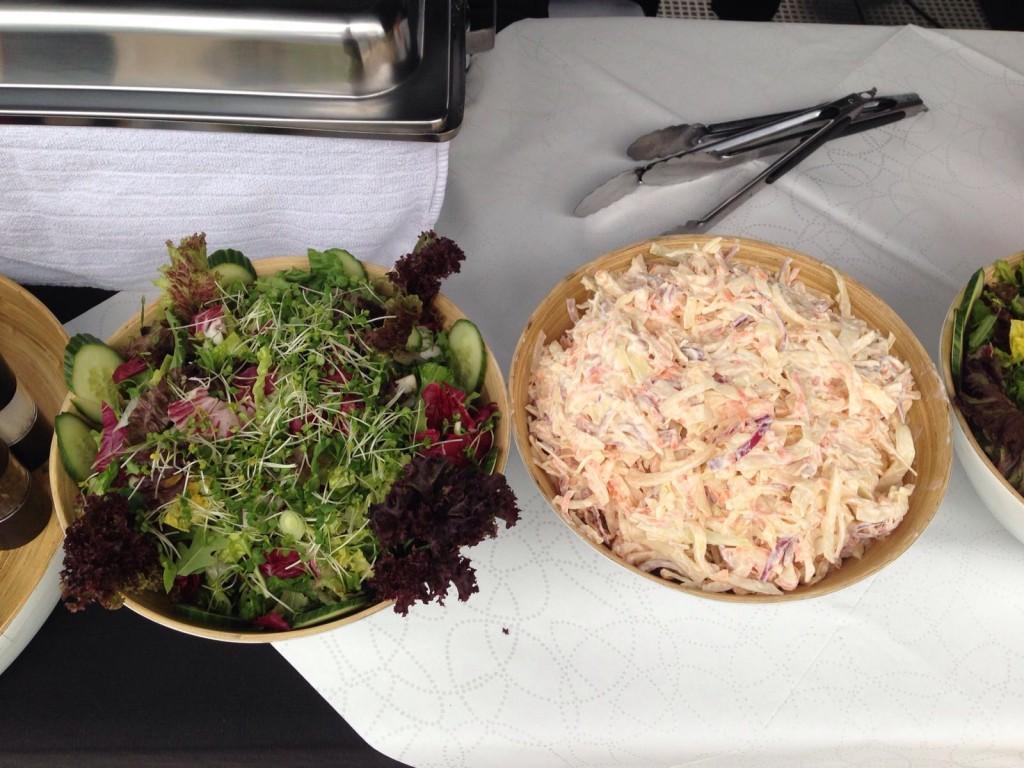 Spring Green Leaf Salad & Homemade Coleslaw