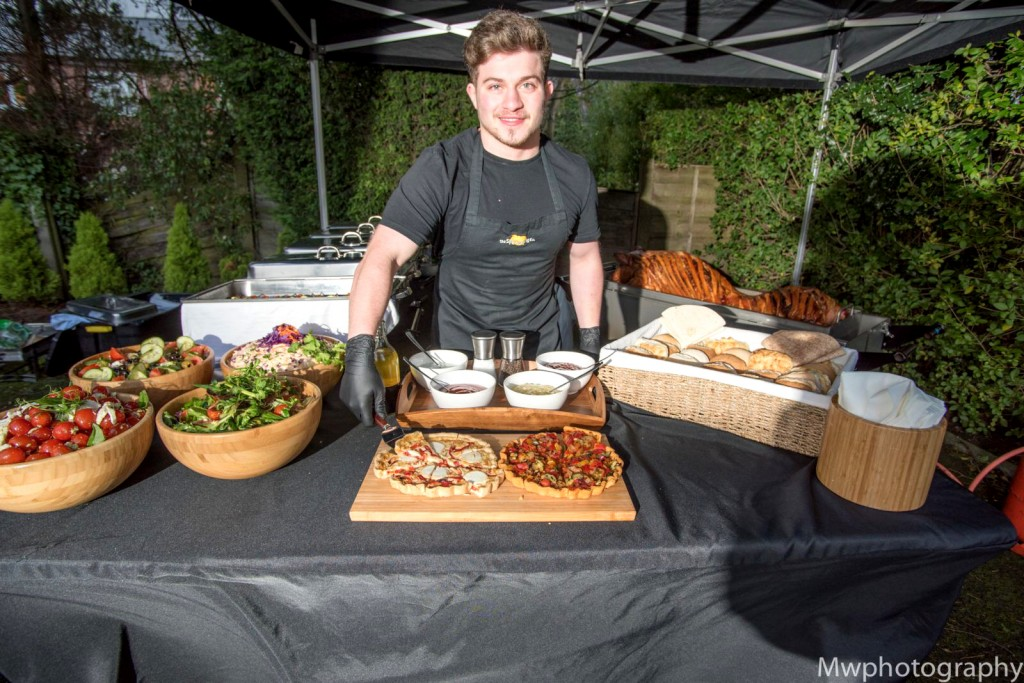 Ready To Serve At A Garden Party