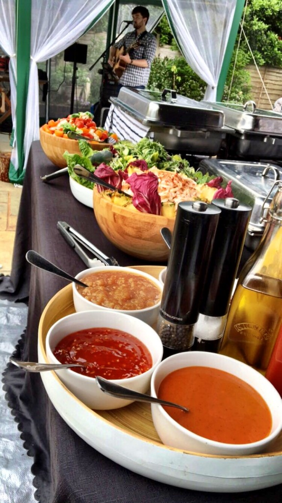 Salads & Sauces Set Up